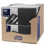 Tork Tork tissue servet 33x33cm 3-laags 1/8-vouw zwart 10x150