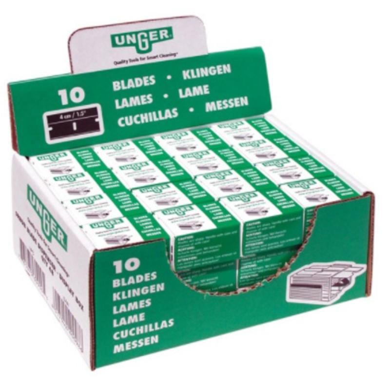 Unger Mesjes voor veiligheidsschraper 4 cm - 10 mesjes in plastic box