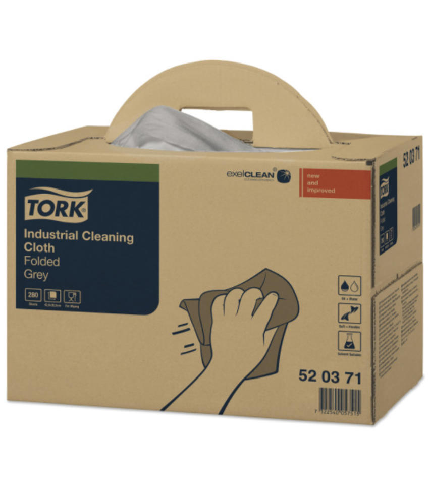 Tork Industrial Box Reinigingsdoek Grijs W7