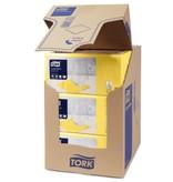 Tork Tork tissue servet 23x23cm 2-laags 1/4-vouw Geel 10x300