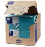 Tork Tork tissue servet 33x33cm 2-laags 1/4-vouw blauwgroen 10x200