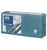 Tork Tork tissue servet 33x33cm 3-laags 1/4-vouw blauwgroen 10x150