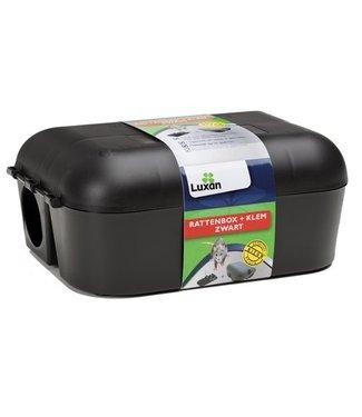 Luxan Luxan Rattenbox + Klem Zwart