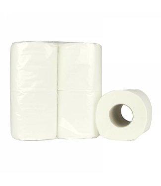 Eigen merk Toiletpapier Traditioneel, 200 vel, 2-laags, recycled tissue wit, 64 rollen