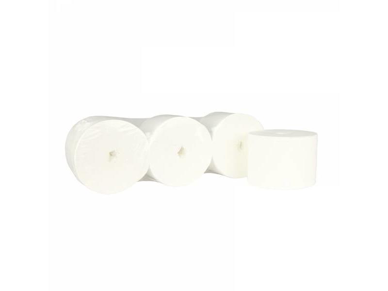 Eigen merk Toiletpapier Kokerloos, 2-laags, cellulose wit, 900 vel, 36 rollen