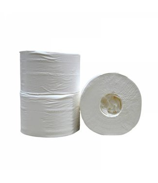 Eigen merk Toiletpapier Coreless, 2-laags, cellulose wit, 472 vel, 12 rollen