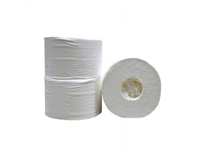 Eigen merk Toiletpapier Coreless, 2-laags, cellulose wit, 472 vel, 12 rollen