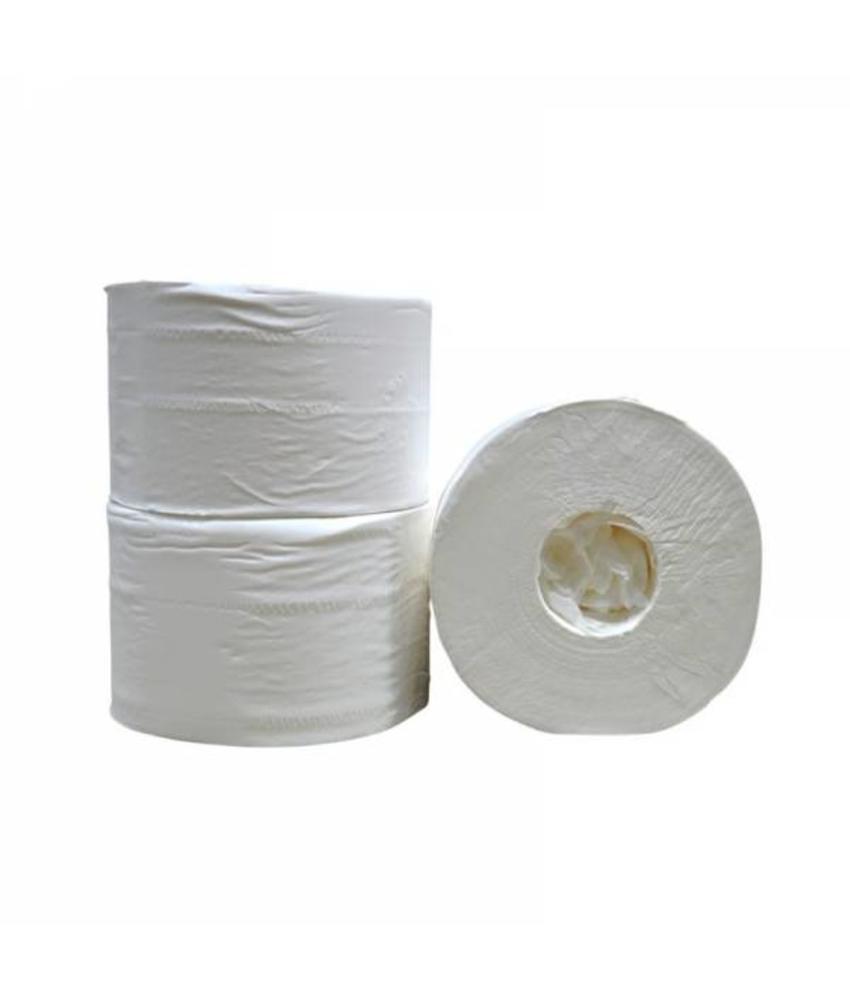 Toiletpapier Coreless, 2-laags, cellulose wit, 472 vel, 12 rollen