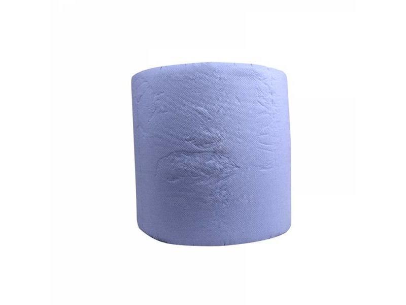 Eigen merk Industrierollen, 1000 vel, 36cm, 3-laags, cellulose, blauw, 1 rol