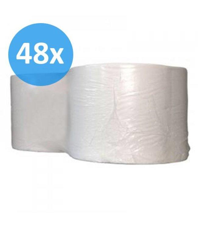 Eigen merk PALLET Industrierollen, 1000M, 24cm, 1-laags, cellulose, wit