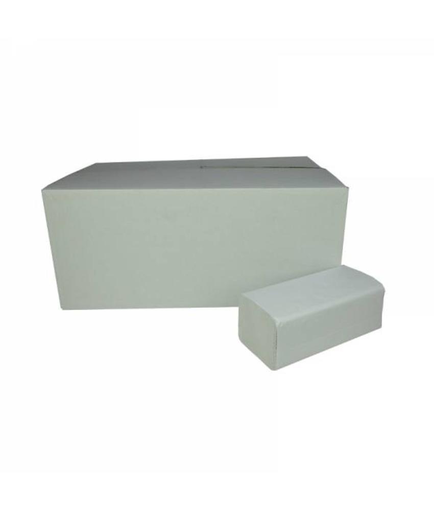 Vouwhanddoekjes Z-vouw, 2-laags, recycled tissue wit, 3200 stuks