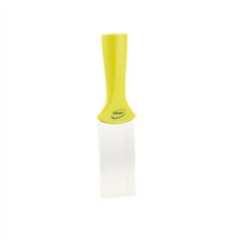 Vikan, RVS schraper steelmodel smal, 205x50mm, geel
