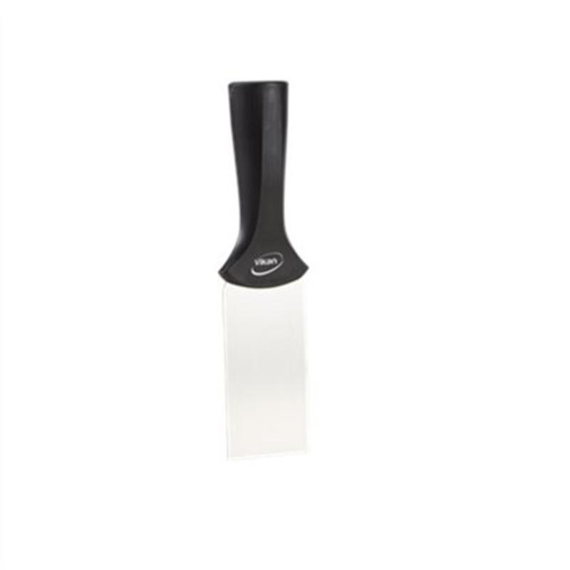 Vikan, RVS schraper steelmodel smal, 205x50mm, zwart