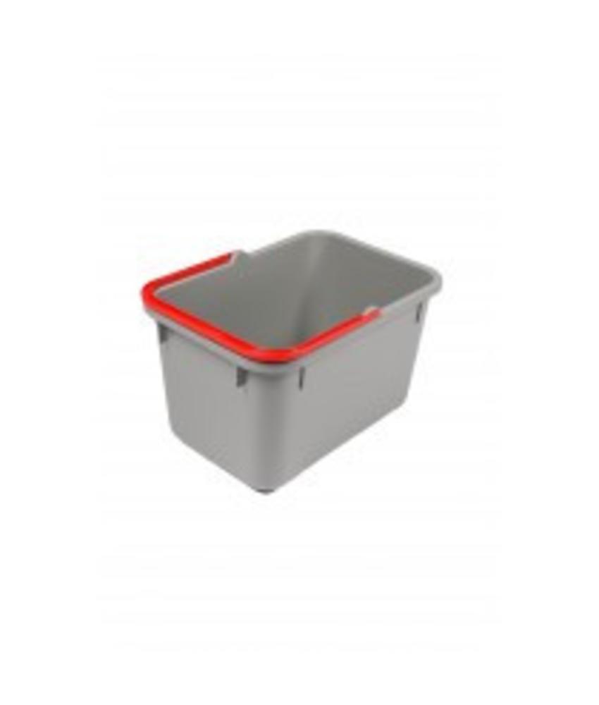 Numatic Grijze emmer 17 liter met rode hendel