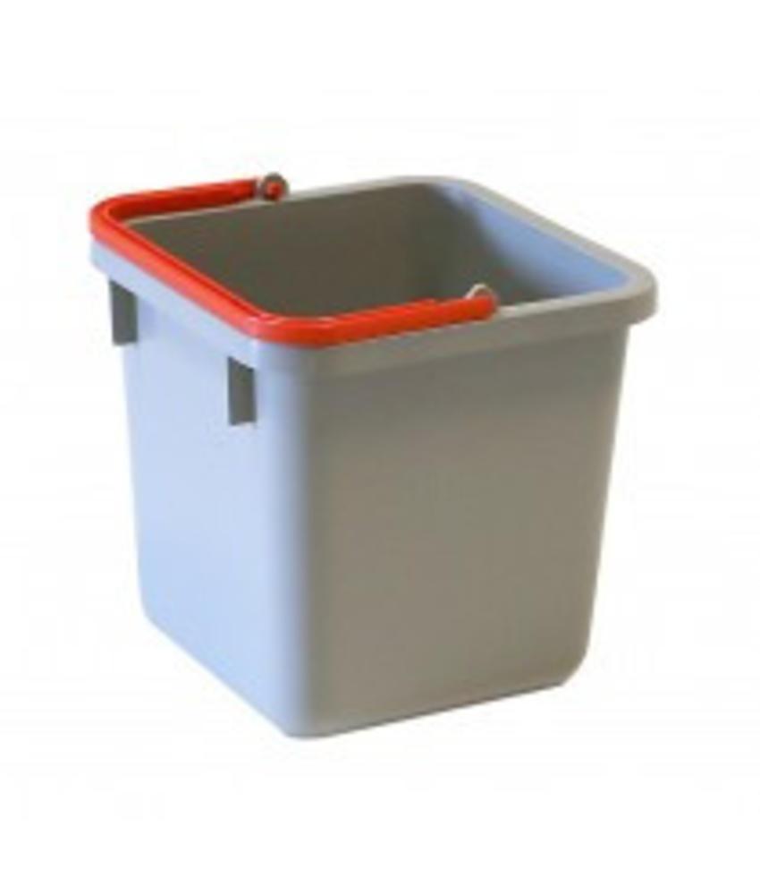 Numatic Grijze emmer 6 liter met rode hendel