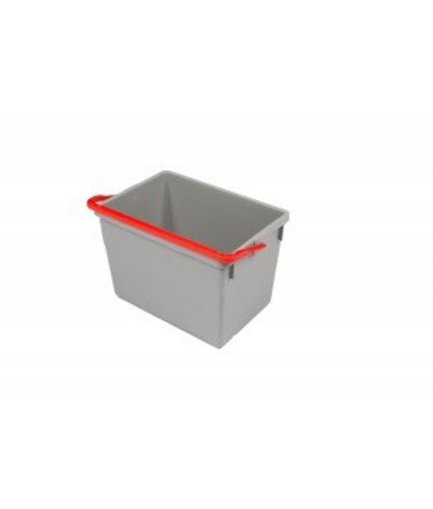 Numatic Grijze emmer 10 liter met rode hendel