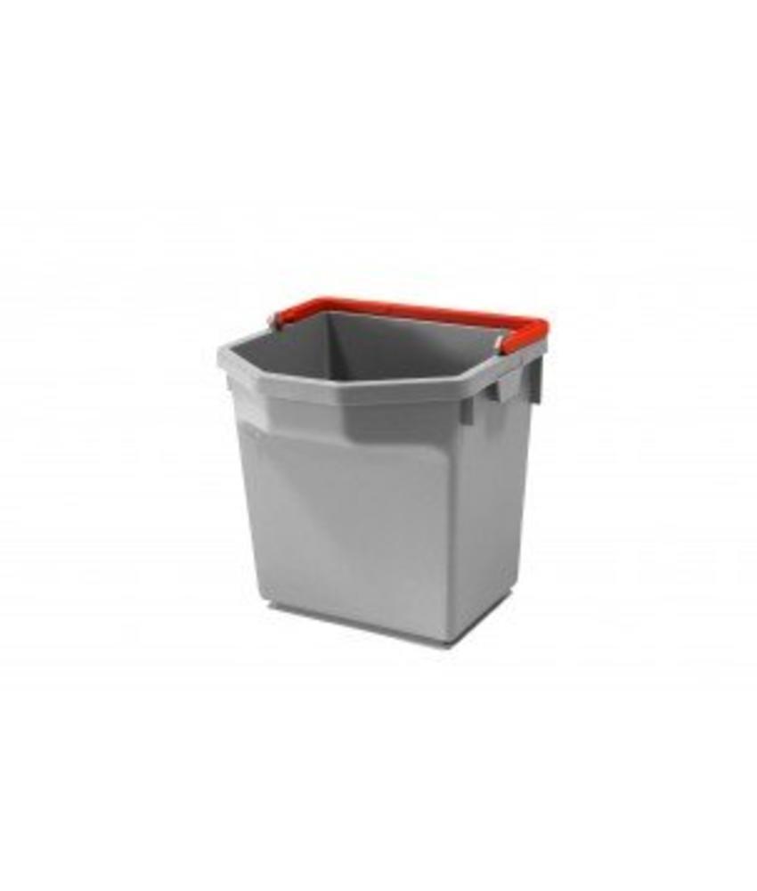 Numatic Grijze emmer 5 liter met rode hendel