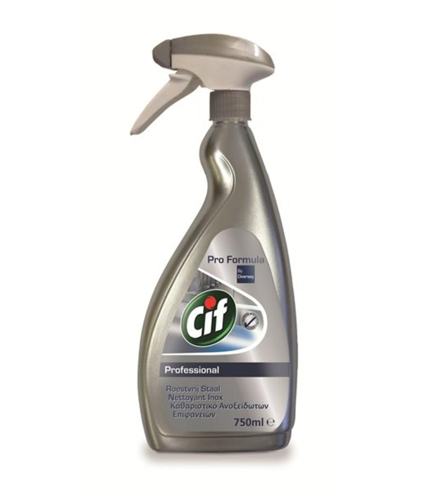 Cif Pro Formula Roestvrij Staal 750 ml