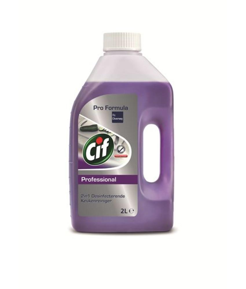 Cif Pro Formula 2in1 Desinfecterende Keukenreiniger 2 L