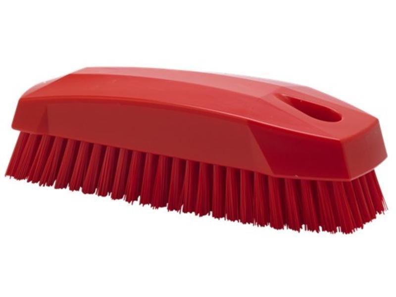 Vikan Vikan Nagelborstel / kleine werkborstel 130x50x40mm, rood