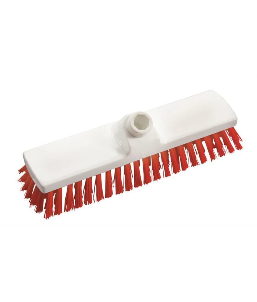 Vloerschrobber - hard 225 mm - rood