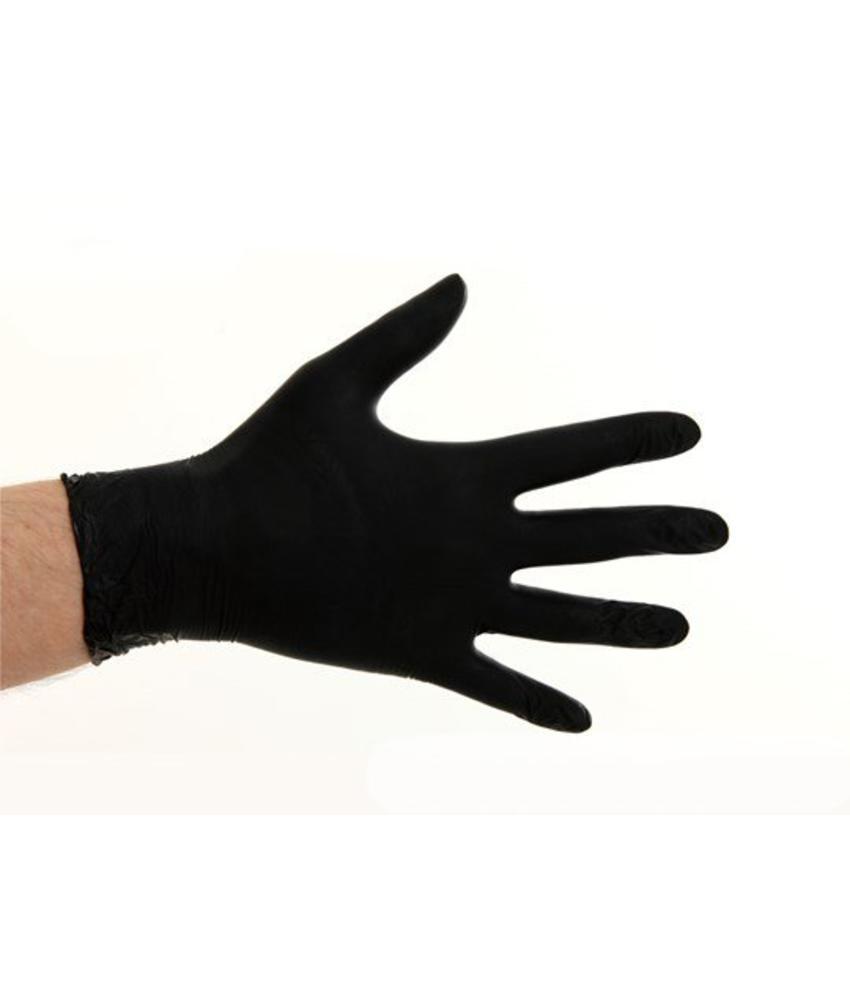 Soft Nitril handschoenen poedervrij - Zwart