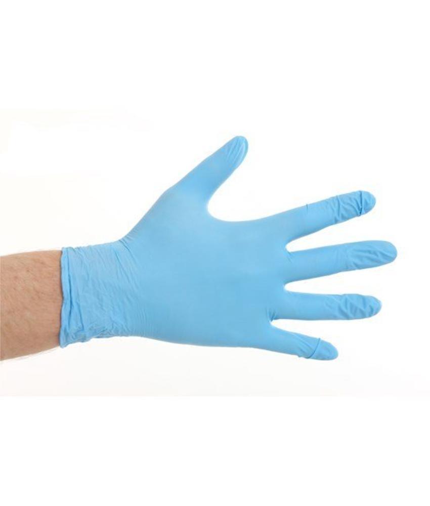 Soft Nitril handschoenen poedervrij - Blauw