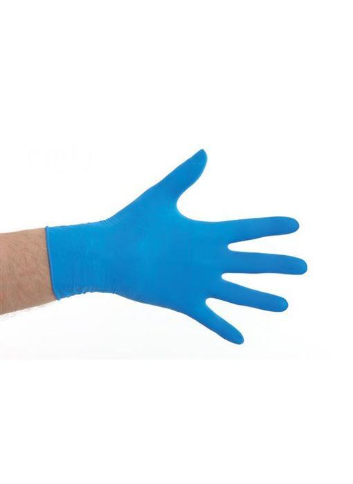Latex gepoederd handschoenen- Blauw
