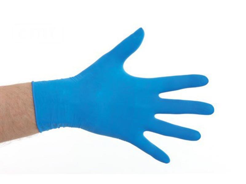 CMT Desinfectie Latex handschoenen gepoederd- Blauw