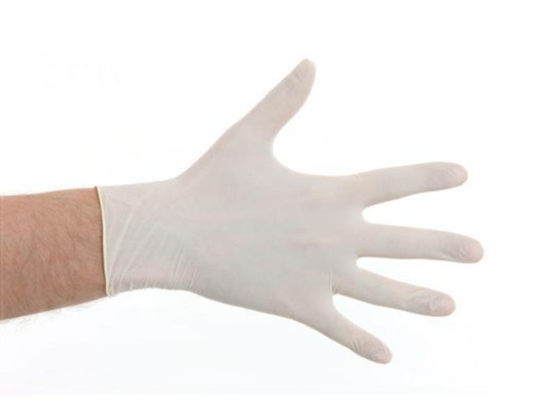 CMT Latex gepoederd handschoenen- Wit
