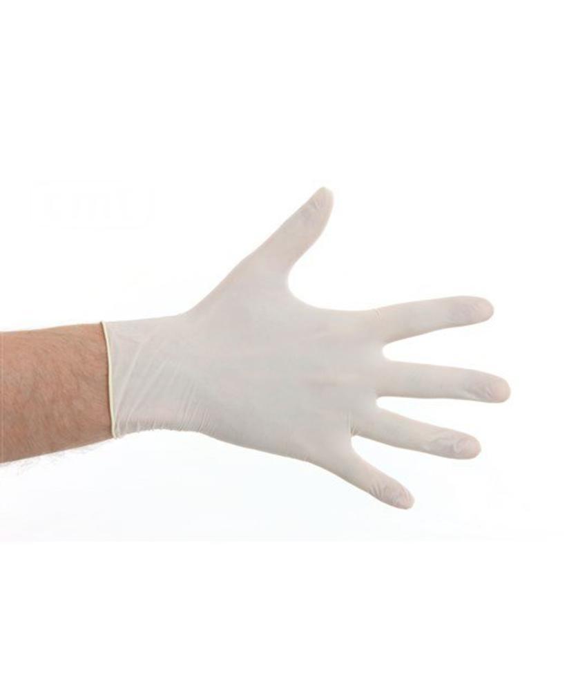 Latex gepoederd handschoenen- Wit