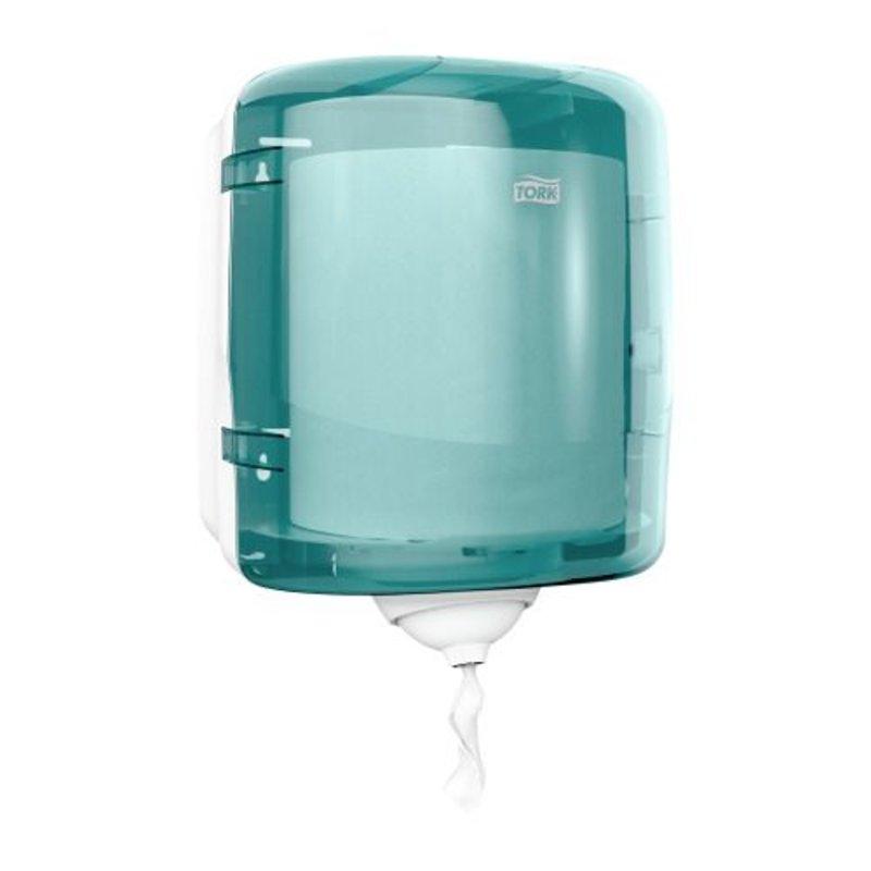 Tork Reflex™ Mini Centerfeed Poetspapier Dispenser Kunststof Turquoise M3