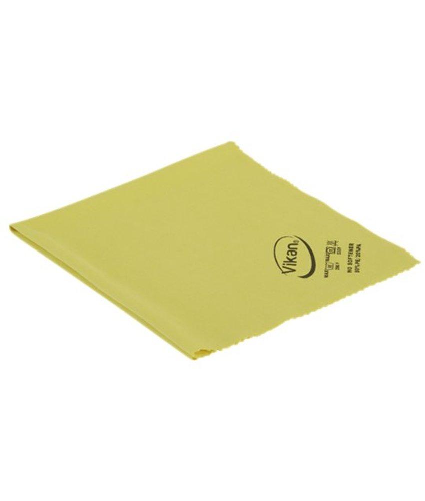 Vikan ErgoClean Lustre doek, microvezel, 40x40cm, geel
