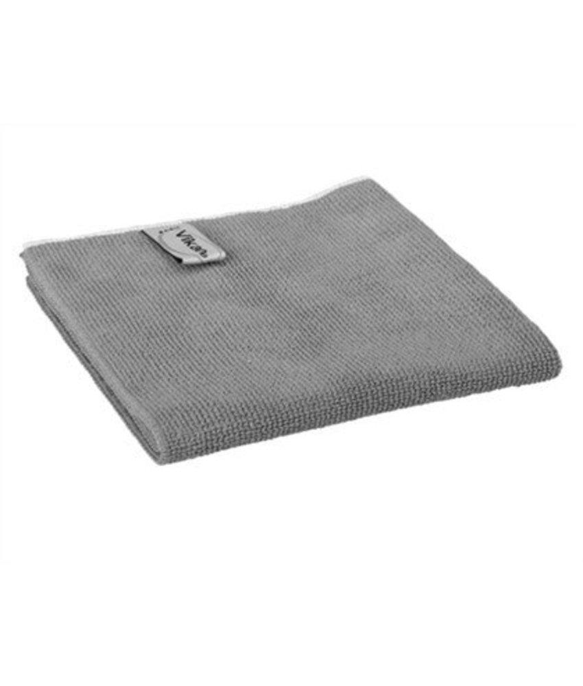 Vikan ErgoClean basic doek, microvezel, 32x32cm, helder grijs