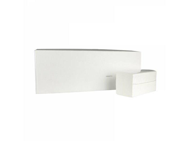 Eigen merk Vouwhanddoekjes Smart-Z, 2-laags, cellulose wit, 3150 stuks