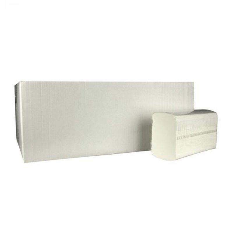 Vouwhanddoekjes Multifold, 2-laags, cellulose wit, 3060 stuks