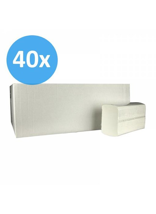 PALLET Vouwhanddoekjes Multifold, 2-laags, cellulose wit