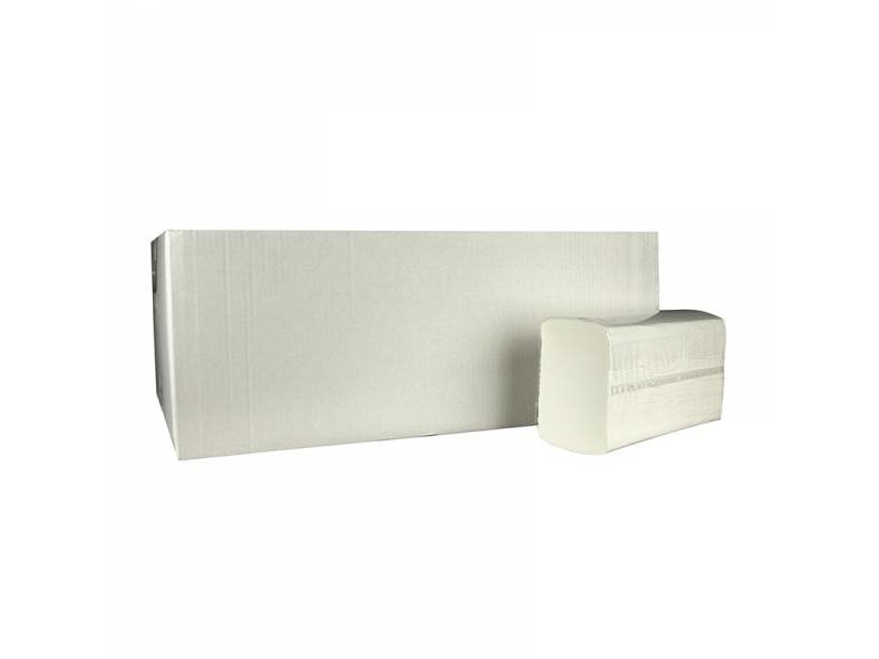 Eigen merk Vouwhanddoekjes Multifold, 2-laags, cellulose wit, 3060 stuks