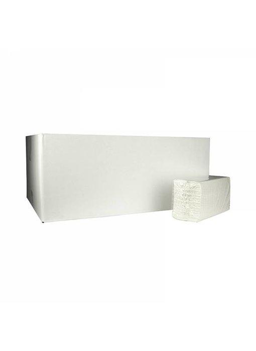 Vouwhanddoekjes C-vouw, 2-laags, cellulose wit, 3040 stuks