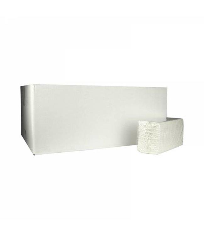 Eigen merk Vouwhanddoekjes C-vouw, 2-laags, cellulose wit, 3040 stuks