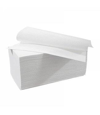 Eigen merk Vouwhanddoekjes interfold, 2-laags, cellulose wit, 3200 stuks
