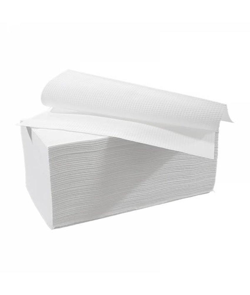 Vouwhanddoekjes interfold, 2-laags, cellulose wit, 3200 stuks