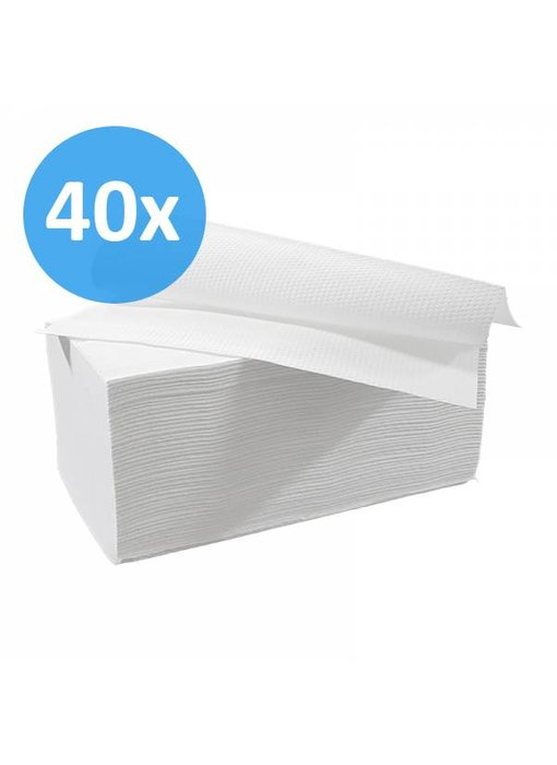 PALLET Vouwhanddoekjes interfold, 2-laags, cellulose wit
