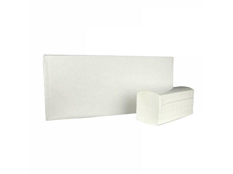 Eigen merk Vouwhanddoekjes interfold, 3-laags, cellulose wit, 2500 stuks