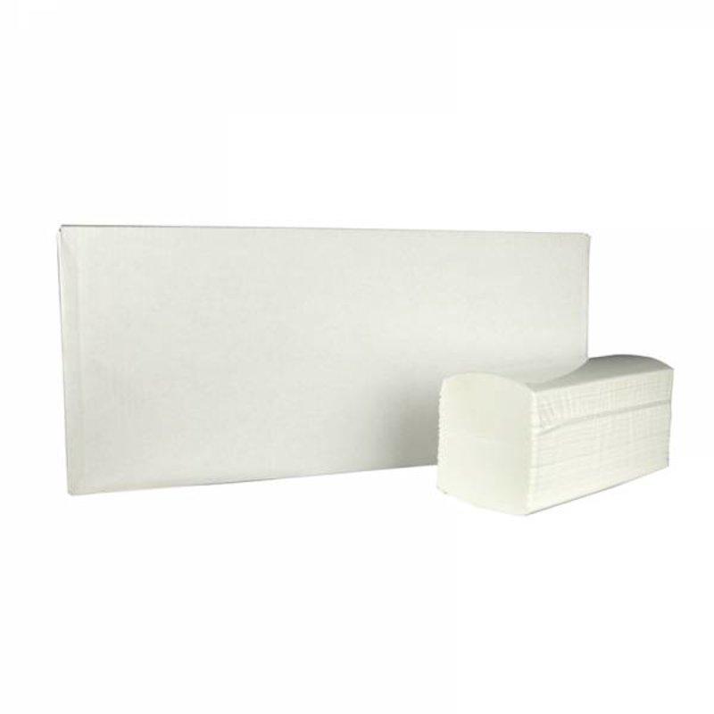 Vouwhanddoekjes interfold, 3-laags, cellulose wit, 2500 stuks