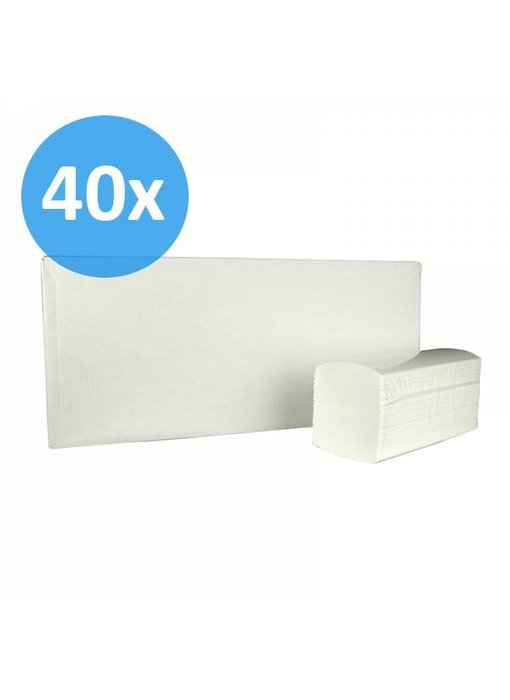 PALLET Vouwhanddoekjes interfold, 3-laags, cellulose wit