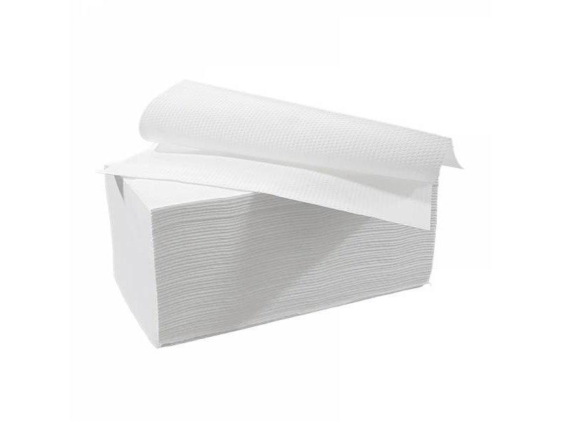 Eigen merk Vouwhanddoekjes interfold, 3-laags, cellulose wit, 2000 stuks