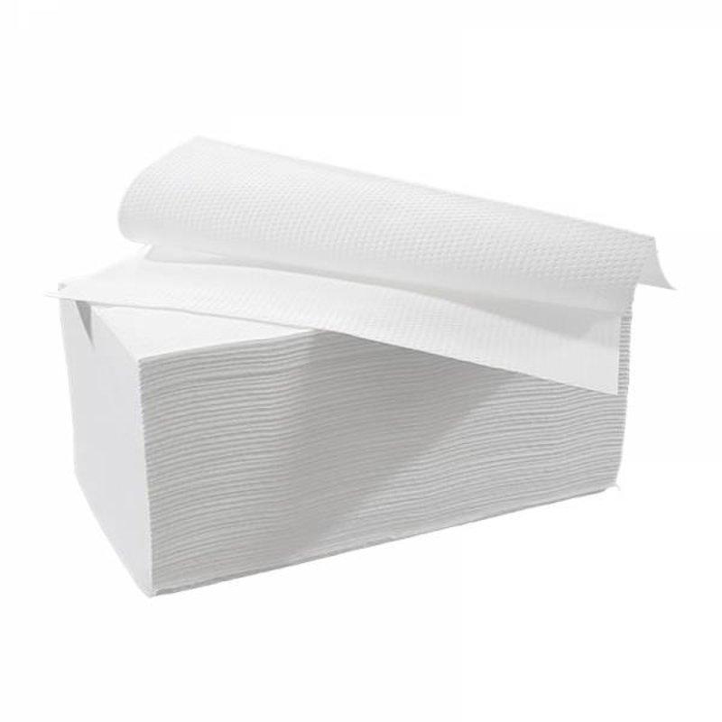 Vouwhanddoekjes interfold, 3-laags, cellulose wit, 2000 stuks