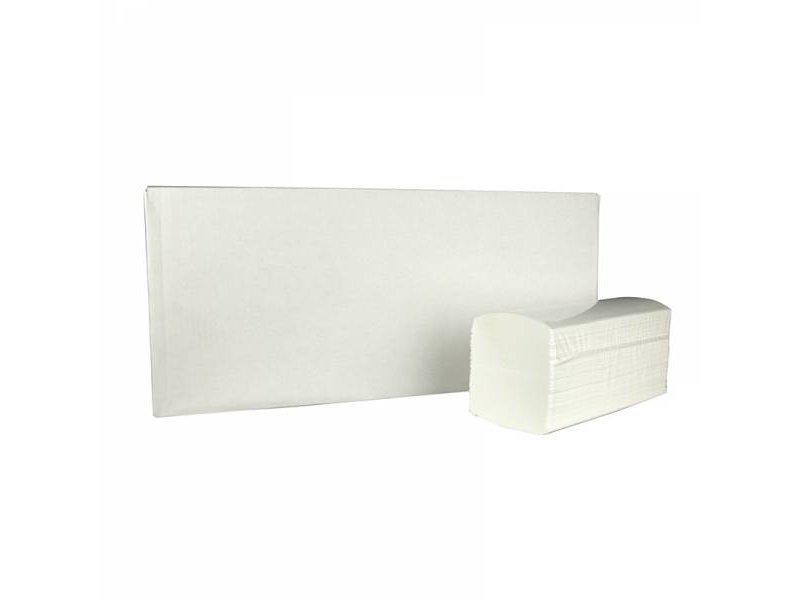 Eigen merk Vouwhanddoekjes interfold, 2-laags, cellulose wit, 2400 stuks