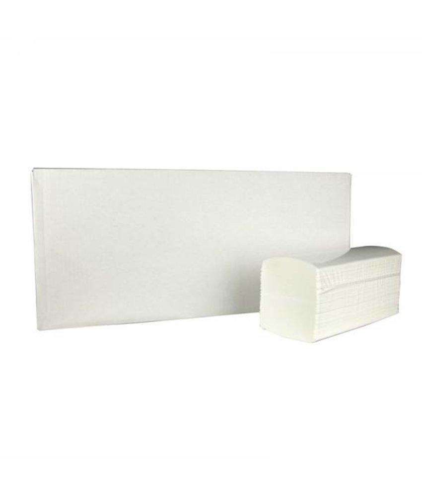 Vouwhanddoekjes interfold, 2-laags, cellulose wit, 2400 stuks